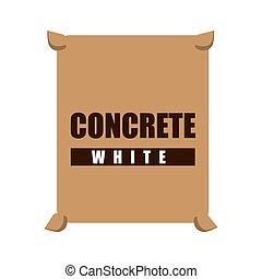 concrete white bag icon