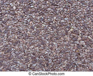 concrete with gray purple pink brown stone pebbles wall...