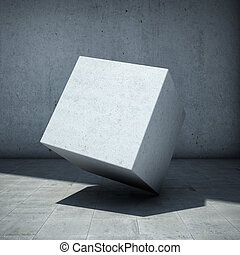 concreto, abstratos, cubo