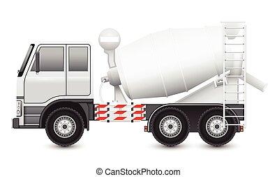 concreto, caminhão