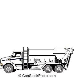 concreto, camion