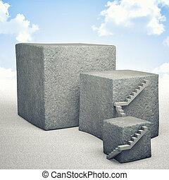concreto, cubo