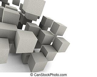 concreto, cubos, plano de fondo
