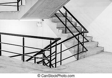concreto, escadaria