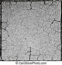 concreto, fesso, struttura