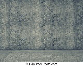 concreto, fondo, 3d