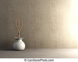 concreto, interior