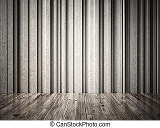 concreto, legno