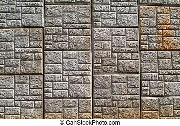 concreto, modellato, muro sostegno, uno