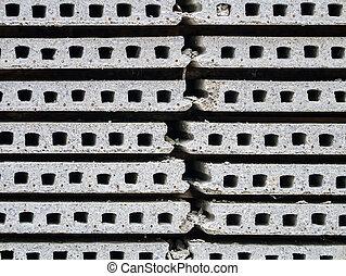 concreto, pila, precast