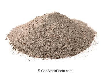 concreto, sabbia, miscelare