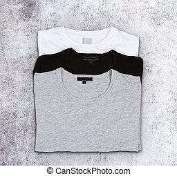 concreto,  T-shirts, superficie, vuoto