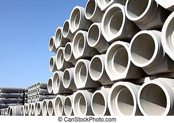 concreto, tubos