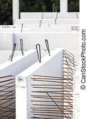 concreto, uno, precast, planta, partes