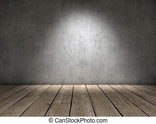 concreto, y, madera