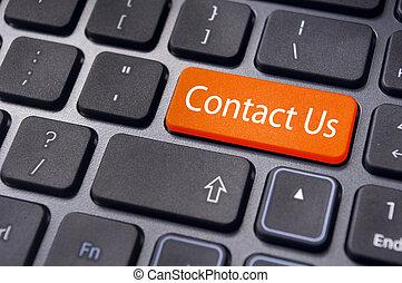 conctact., entrare, linea, ci, contatto, chiave, messaggio