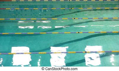 concurrence, piscine, natation