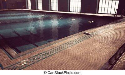 concurrence, swiming, vide, piscine