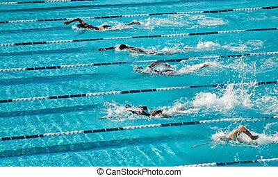 concurrerend, zwemmen