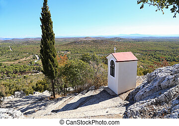 condado, iglesia, municipality, sibenik-knin, /, aldea,...