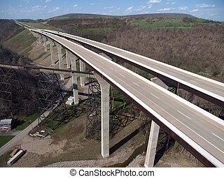 condado, puentes, interestatal