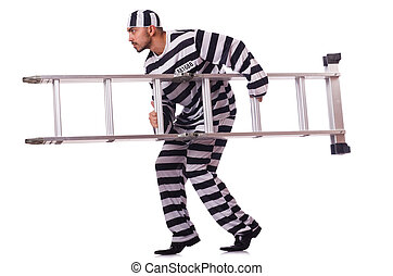 condamné, rayé, criminel, uniforme