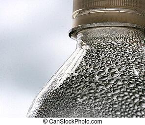condensación, dentro, botella
