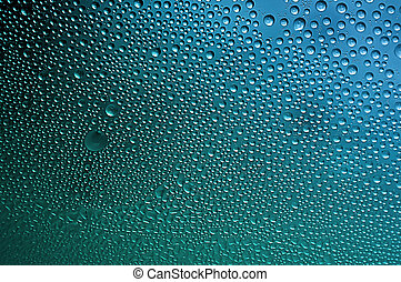 Condensation Water Bubbles - Macro closeup of condensation ...
