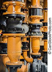 Condenser Water pump and pressure gauge , chiller water pump...
