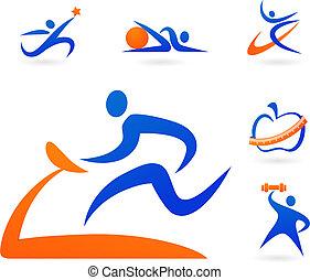 condicão física, ícones