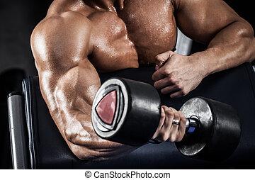 condicão física, dumbbells