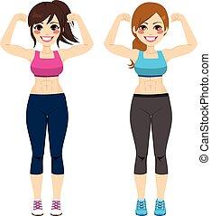 condicão física, forte, mulheres