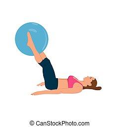 condicão física, mulher, exercitar