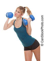 condicão física, pesos, mulher