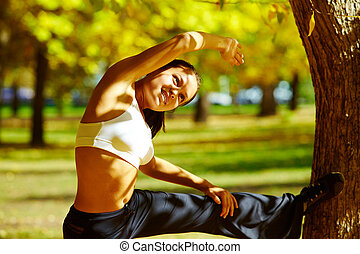 condición física, en el parque