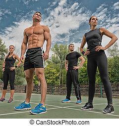 condición física, equipo