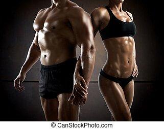condición física, pareja