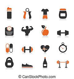 condición física, un, icono