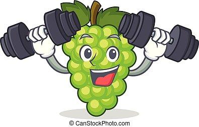 condición física, uvas verdes, carácter, caricatura