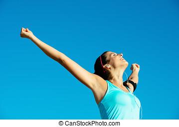condición física, y, deporte, éxito