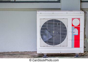 condicionador ar, aquecimento, unidades, i