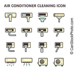 condicionador, ar limpo