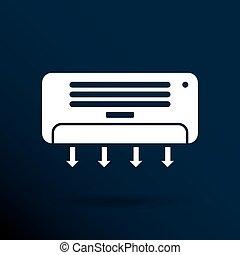 condicionador ar, temperatura, ícone, celsius, gelado,...