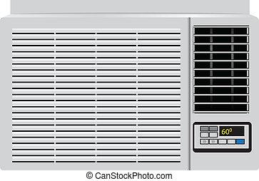 condicionador, lar, ar
