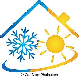 condicionador, vetorial, ar