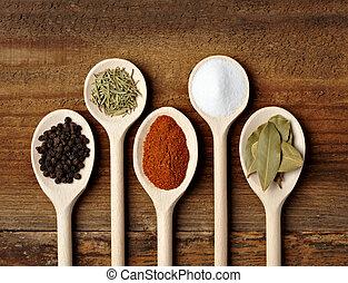 condimento, cibo, spezia, ingredienti