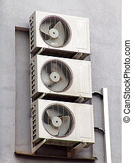 A set of generic conditionners on a wall