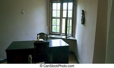 condition., bon, vieux, century., cabinet, retro, 20ème, 4k