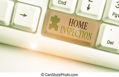 condition, maison, inspection., texte, home., examen, concept, signification, noninvasive, écriture