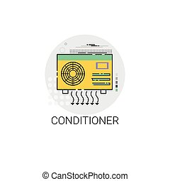 Conditioner Household House Heating Icon